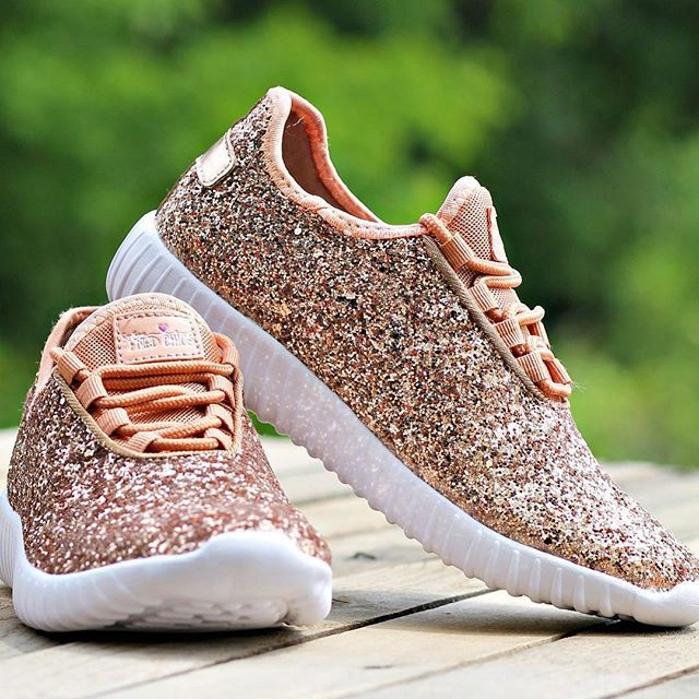 Glitter Bomb Sneakers - Rose Gold (PREORDER)