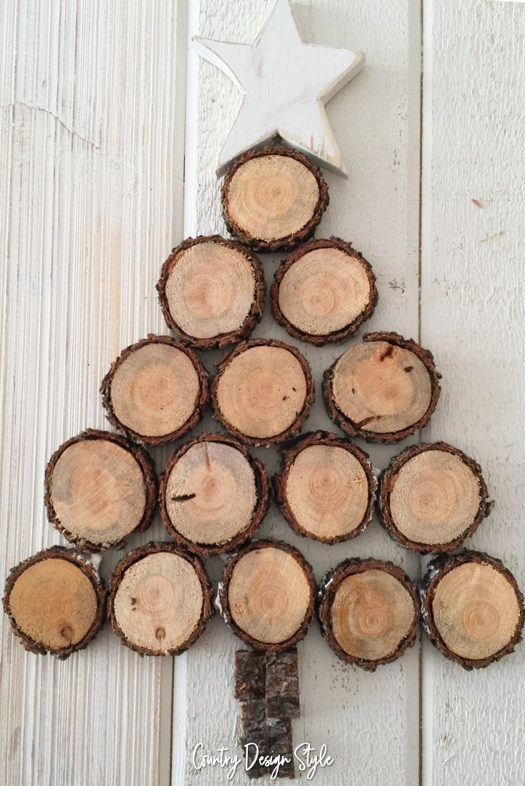 How To Make A Wood Slice Tree In Under 30 Minutes Wood Slice Decor Wood Slices Wood