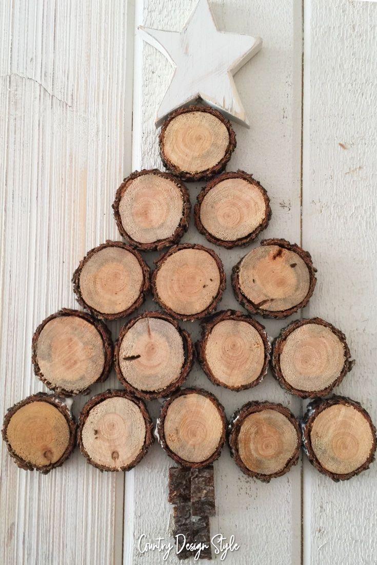 Diy Rustic Three Tier Wood Slice Stand Wood Slice Decor Wood Slice Crafts Decor