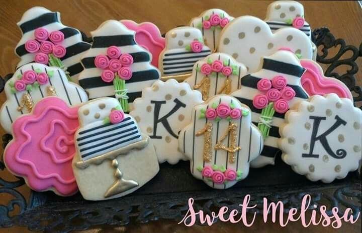number 14 birthday cookies