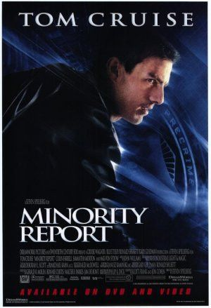 Minority Report Movie Poster 27x40 Used Steven Spielburg, Tom Cruise, Bonnie Morgan, Patrick Kilpatrick, Kurt Sinclair, Max Trumpower, Frank Grillo, Kathryn Morris, Lois Smith