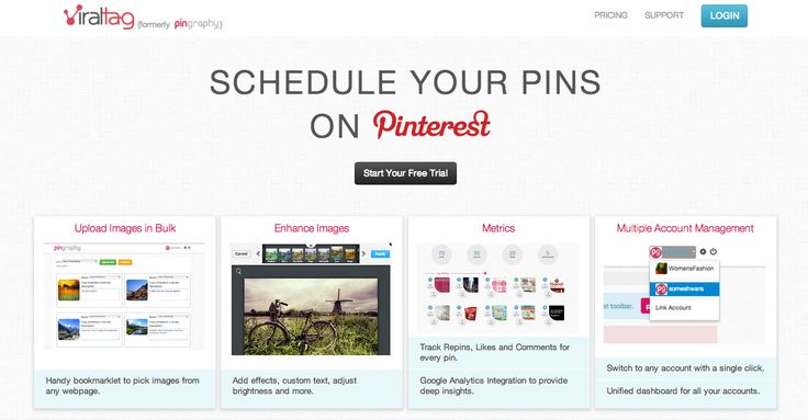 Schedule pins on #pinterest using viraltag.com