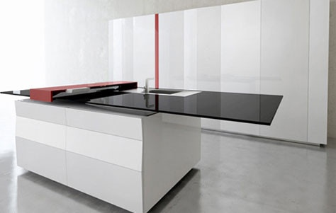 Incredible new products coming for the home!  the computer is embedded in the counter.