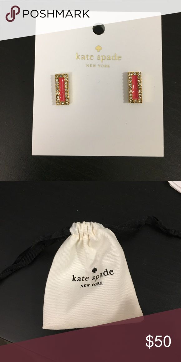 NWT Kate Spade gold tone coral earrings w/bag Coral earrings comes with the bag too. MATERIAL shiny gold plated brass metal with glass stones FEATURES shiny 14-karat gold filled posts DETAILS weight: 6.5 g handcrafted 0 kate spade Jewelry Earrings