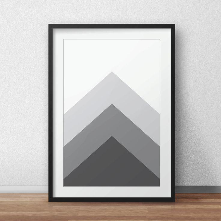 Grey Geometric, Wall art, Grey Art, Geometric Art, Geometric Wall Art, Grey Wall Prints, Grey Art, Printable, Geometric Home Decor by AnnyDigitalDesign on Etsy