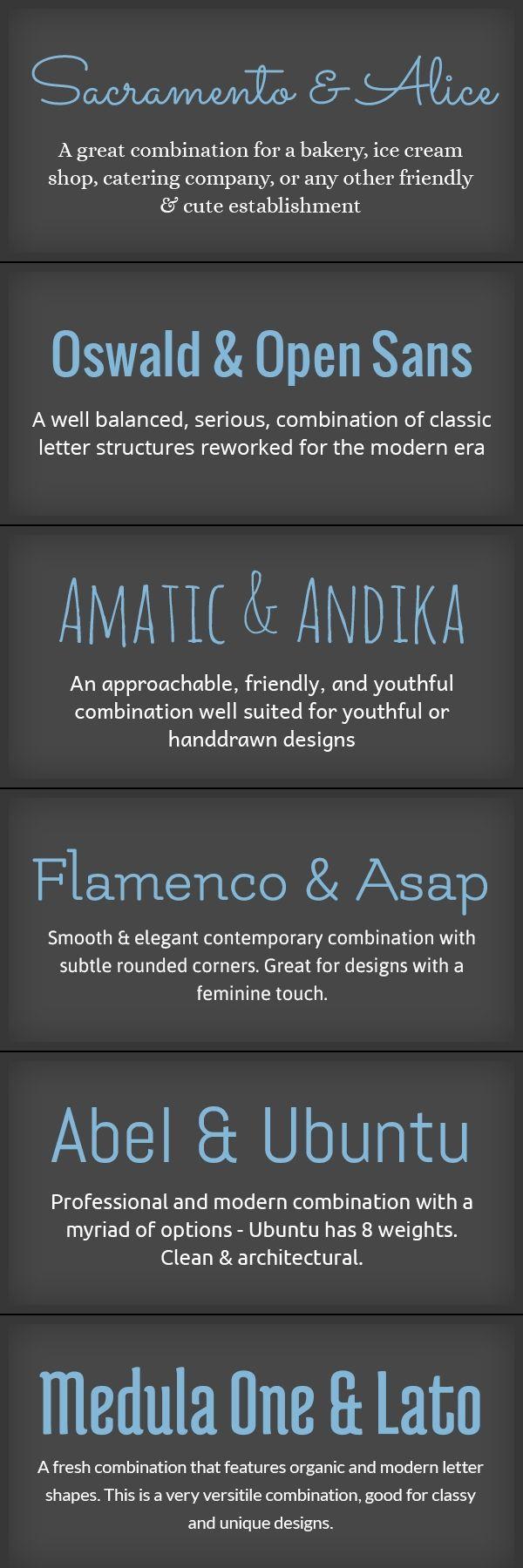 Pairings of Fonts