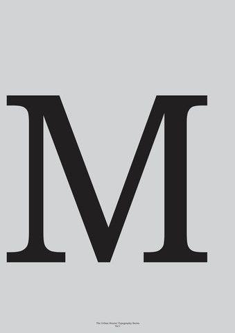 Typography Art Print Art Print - 'M'