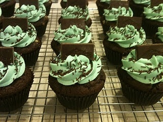 Andes Mint Cupcakes....from scratch!