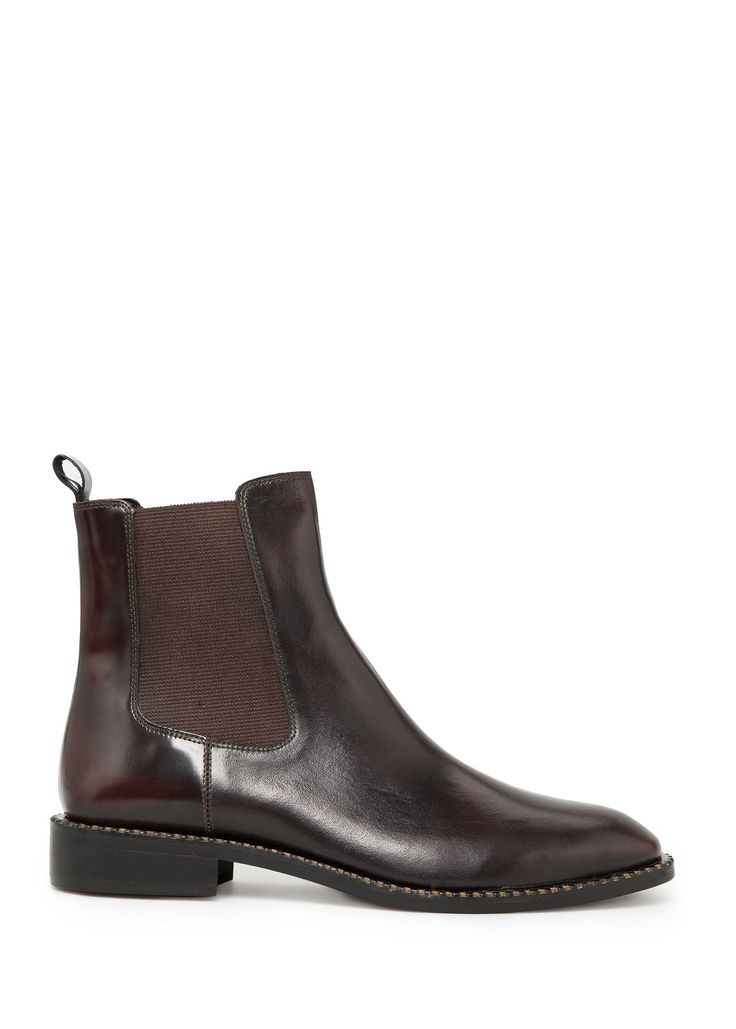 Leather chelsea ankle boots - Women | MANGO | 100% bovine leather | JOD99