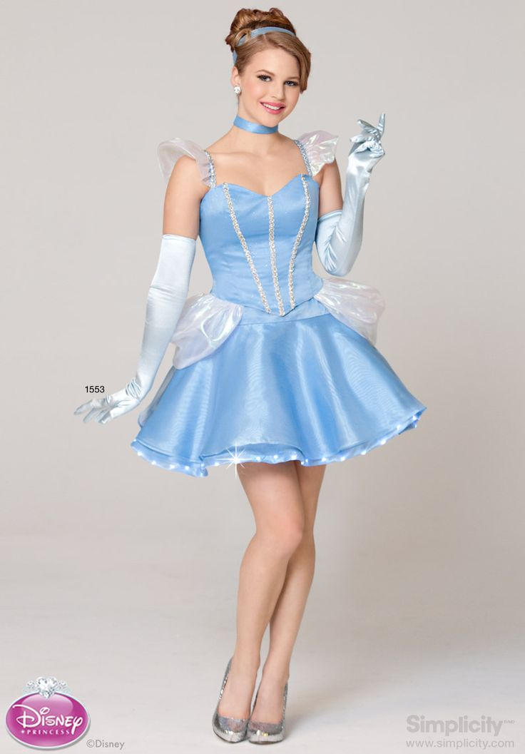 Flirty disney princess cinderella costume with led mini lights simplicitypatterns probably - Costume princesse disney adulte ...