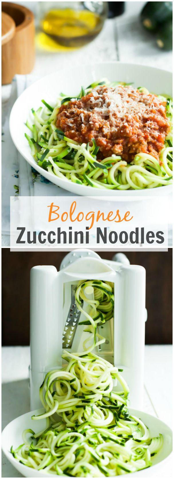 Bolognese Zucchini Noodles. primaverakitchen.com