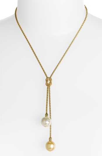'Love Knot' Pearl Lariat