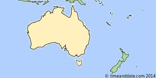 Map showing the location of Melbourne. Click map to see the location on our worldwide Time Zone Map.
