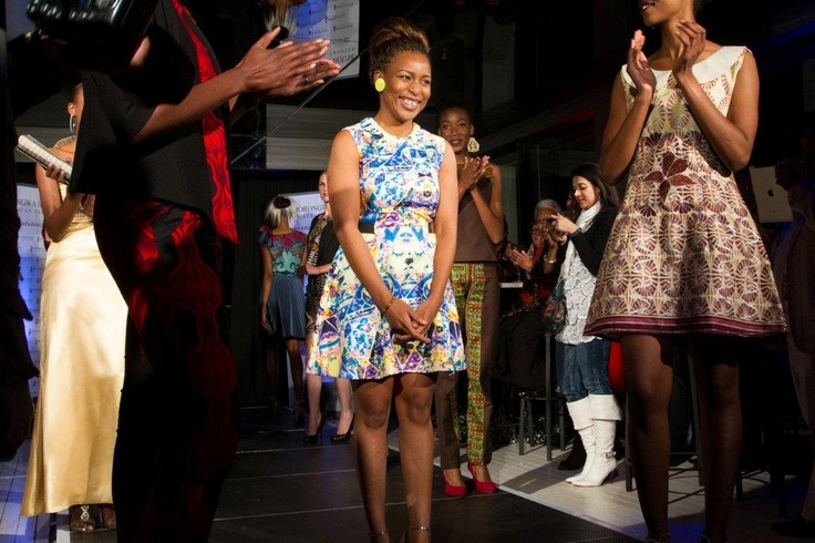 JM with her collection at the Morongwa House of African Fashion launch. www.mhafricanfashion.co.za