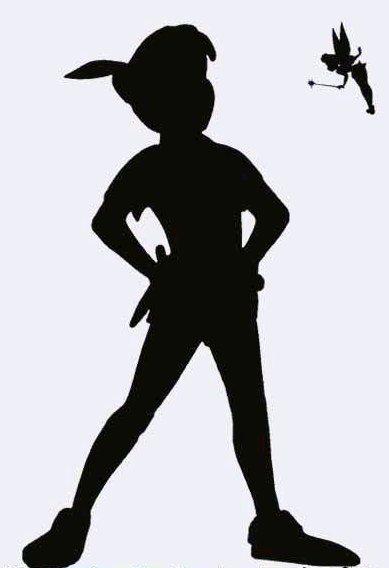 Peter Pan Flying Shadow Silhouette Related Keywords