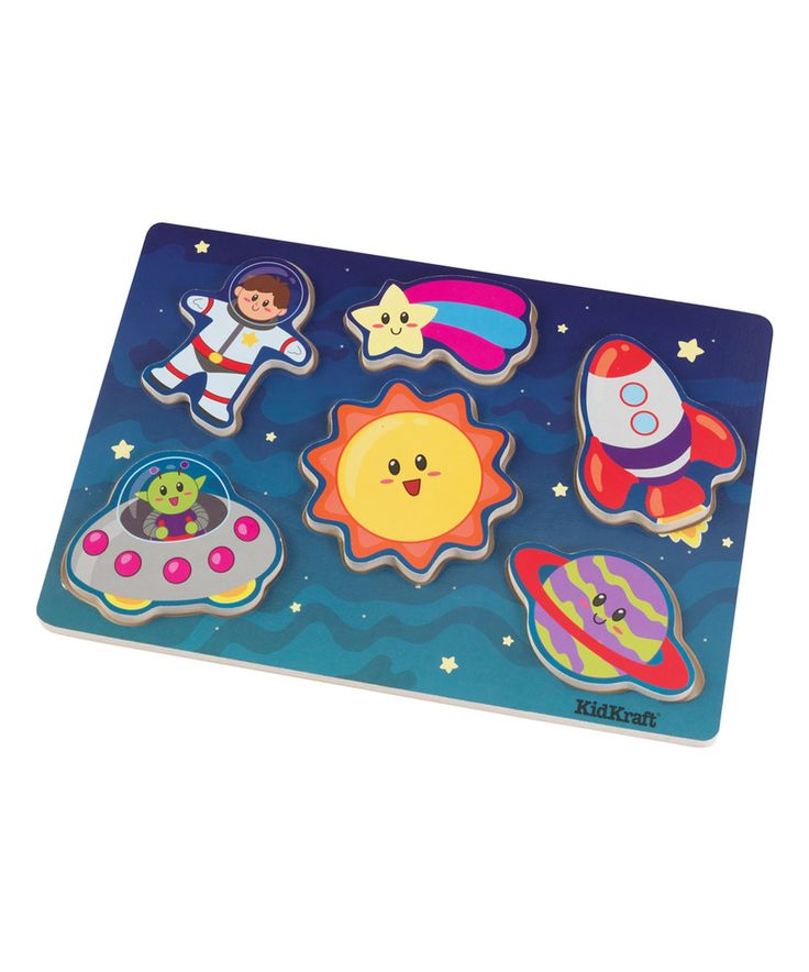 Chunky Outer Space Six-Piece Puzzle by KidKraft #zulily #zulilyfinds