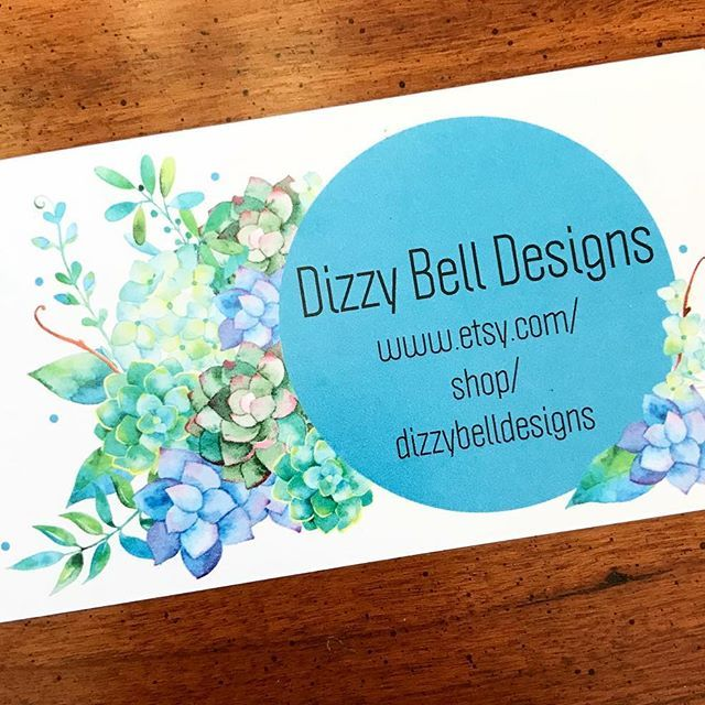 Yay!!! My new business cards came in! Can't wait to start sending these out with each order and on the back there is a coupon code available for your next order! •  •  •  •  #businesscards #vistaprint #dizzybelldesigns #couponcode #review #newbusinesscards #excited #yay #flowers #perfect #shopsmall #smallbusiness #etsyshop #etsystore #onlinestore #boutique #boutiqueshopping #babyboutique #decals #stickers #onesies #toddler #baby #dreamer #goals #branding #marketingsocial #marketing