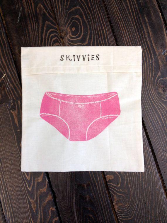 Lingerie Travel Bag by BrindyLinens on Etsy, $25.00 #brindylinens #blockprint #teatowel #hemp #cotton #printed #treatyoself #newfoundland #lingerie