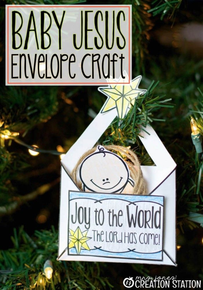 Nativity Craft Baby Jesus Envelope - MJCS Maybe make it an invitation to know Him?