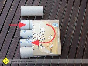 Basteltipps B astelanleitungen Pappe Schere Papier mongolische Wüstenrennmäuse Einrichtung Käfig und Terrarium Zubehör Gerbils Crossing