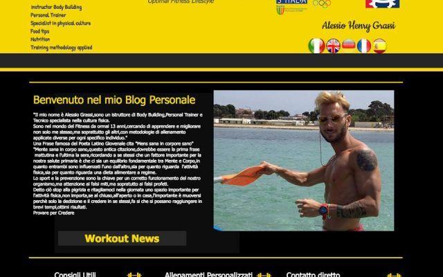 Personal Trainer Alessio Henry Grassi Mi presento,sono Alessio Henry Grassi Personal Trainer specializzato. Nel mio blog,divulgo consigli su allenamenti personalizzati,sulla nutrizione,su eventi che si svolgeranno,ma sopratutto tanti me #blog #bodybuilding #fitness #gym #salute