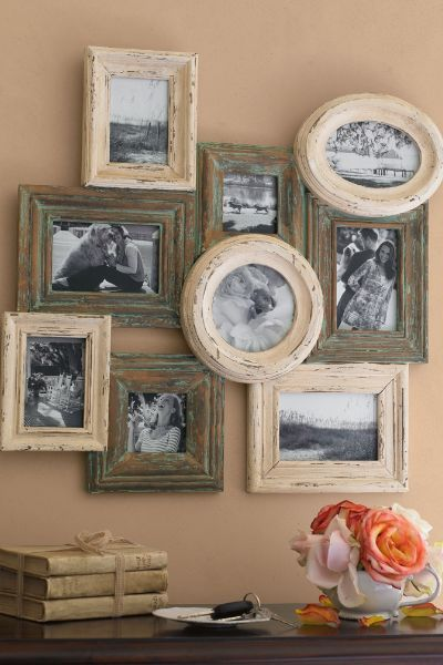 Do it yourself picture frame ideas vintage postcard gallery diy chateau collage frame with do it yourself picture frame ideas solutioingenieria Gallery
