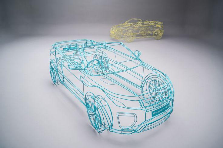 Land Rover Range Rover Evoque convertible wireframe studio 4