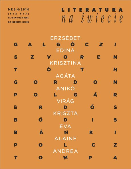 Literatura na Świecie, 3-4/2014 Węgierki