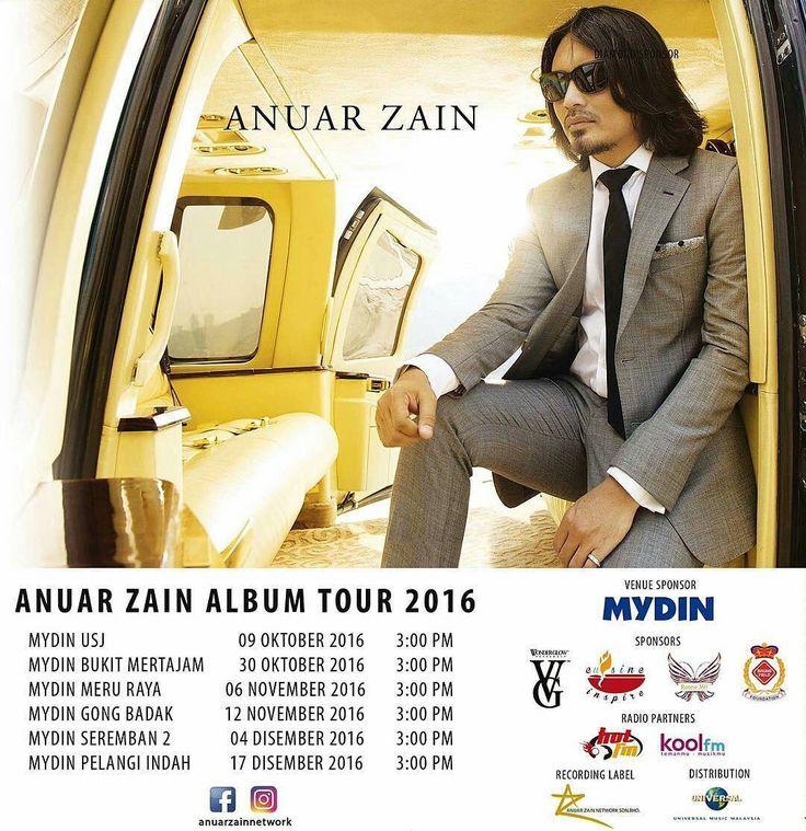 09.10.16 (Ahad)  Anuar Zain Album Tour akan bermula! Temui Anuar Zain di Mydin USJ Subang Jaya pada jam 3.00pm pada hari Ahad ini. Jumpa anda disana!  #andainyatakdir  #anuarzain  #anuarzainnetwork - #regrann @anuarzainnetwork