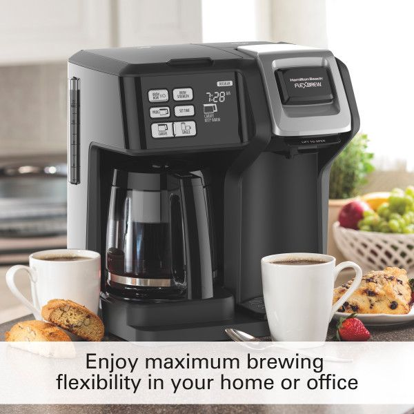 Hamilton Beach Flexbrew 2 Way Coffee Maker Model 49976 Walmart Com Coffee Maker Reviews Coffee Maker Cappuccino Maker