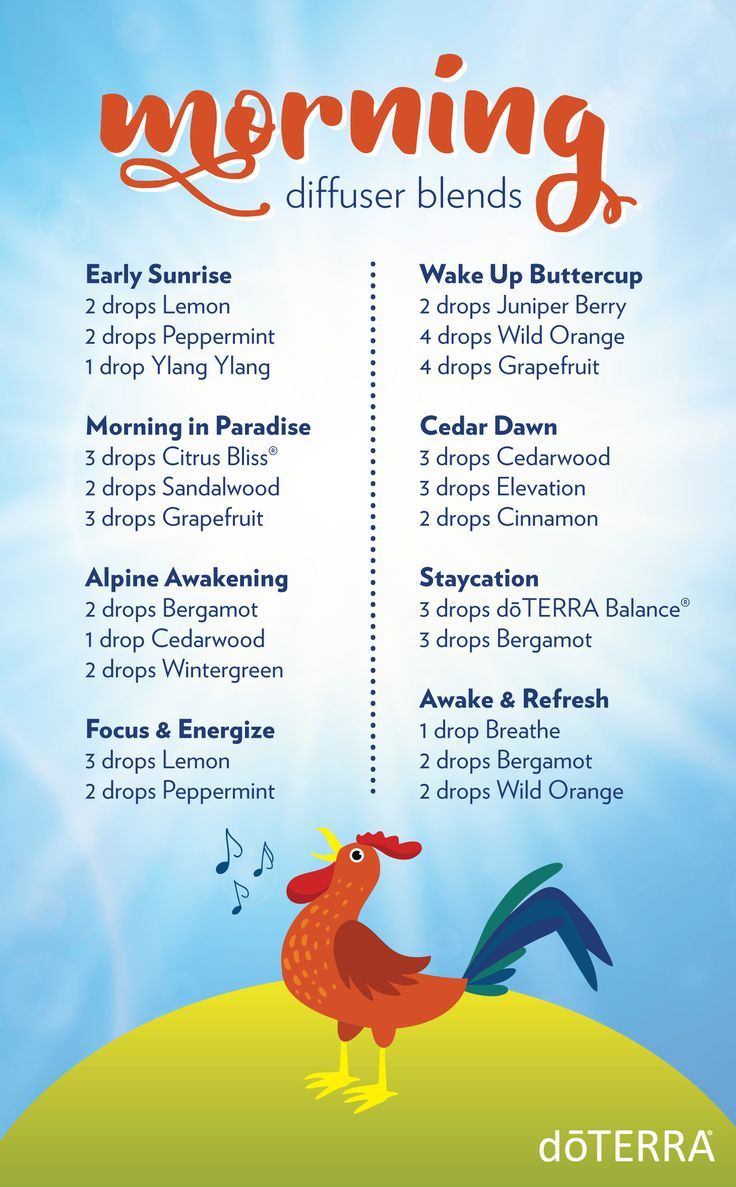 8 diffuser blends to start your morning off right