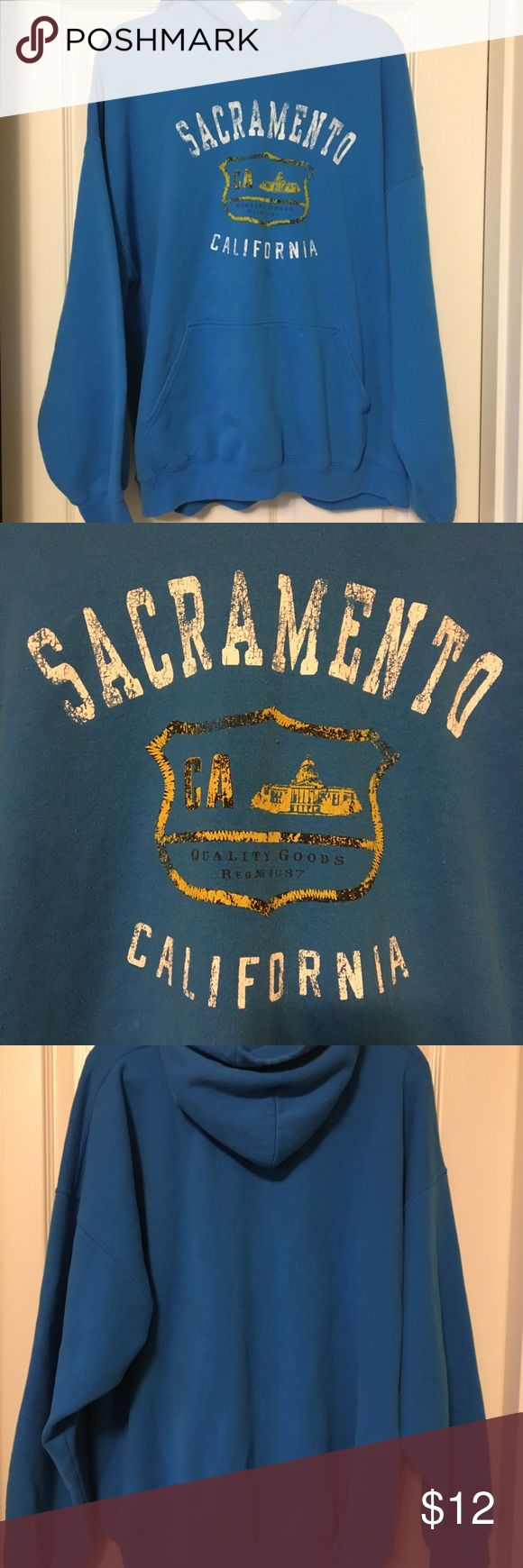 SACRAMENTO CALIFORNIA sweatshirt SACRAMENTO CALIFORNIA blue hooded sweatshirt. Tops Sweatshirts & Hoodies