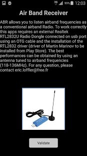 Air Band Receiver: miniatura de captura de pantalla