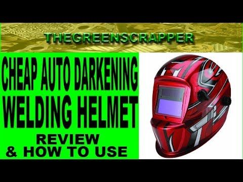 CHEAP AUTO DARKENING HELMET REVIEW   HOW TO USE AN AUTO DARKENING WELDING SHIELD or WELDING HELMET CHEAP AUTO DARKENING HELMET REVIEW - HOW TO USE AN AUTO DARKENING WELDING SHIELD or WELDING HELMET.  Ive wanted to weld for some time & when I decided it was time to start welding I wanted to begin with a cheap welder & good quality yet inexpensive welding supplies.  I know welding safety is important and if you dont have a good welding shield you can get diminished eye sight and even…