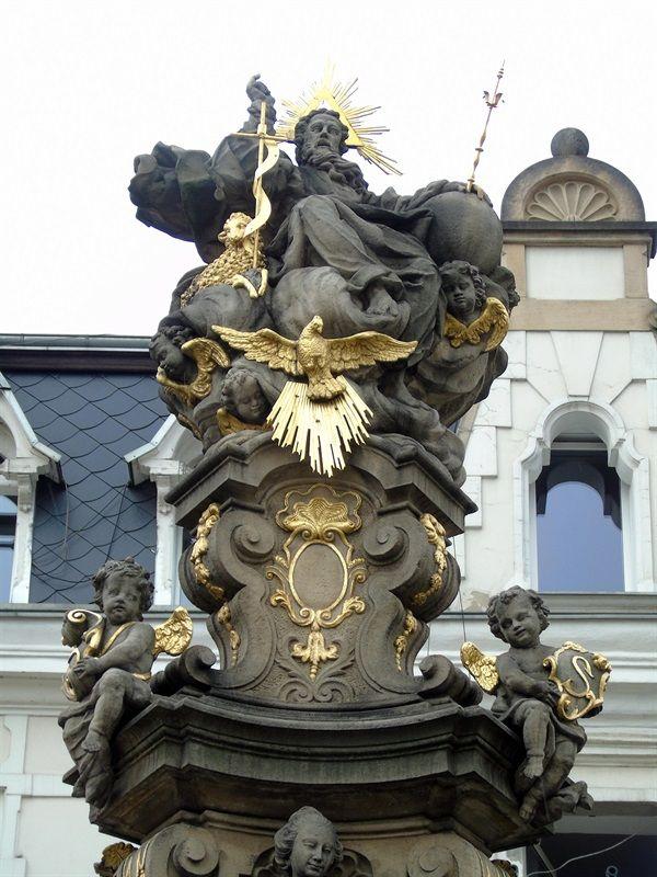 BYSTRZYCA KŁODZKA: Barokowa kolumna Trójcy Świętej (1736)