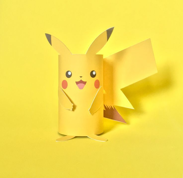 Pikachu Paper Tube Craft - The Art Dream Blog