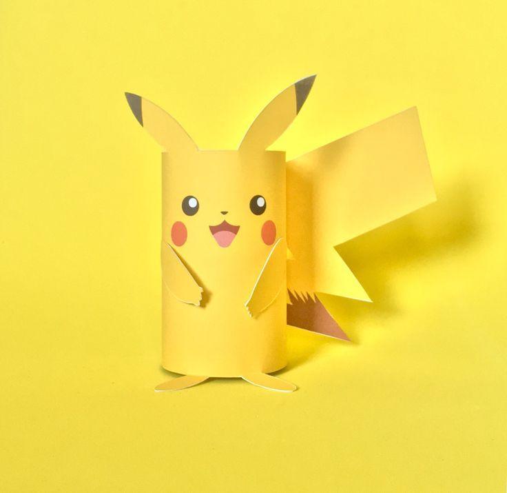 Pikachu Paper Tube Craft - The Art Dream Blog
