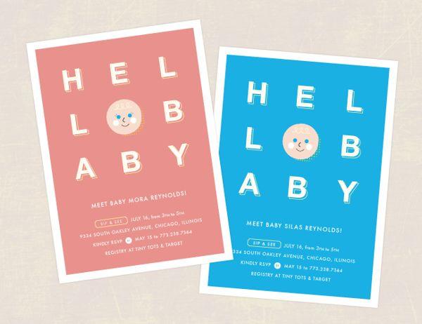 Hello Cutie Baby Shower Invite on Behance