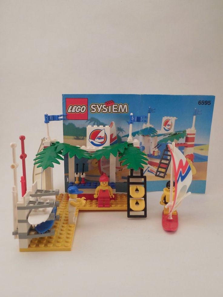1993 LEGO System #6595 Surf Shack Set 100% Complete Loose w/ Instructions #LEGO