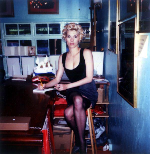 Sara Stockbridge in Westwood 1988 at Worlds End