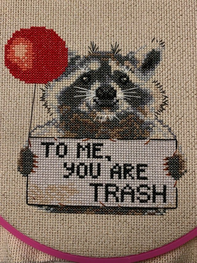 Original Raccoon Pattern From Etsy Shop Talkingmoths Modified By