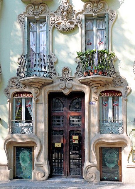 """I have a degree in Urban Design and would love to create a town one day. I would have my architects create visual whimsies that add interest and charm to the space in unexpected ways. This, is the perfect example of what I'm talking about! """"old doors under balconies"""""""
