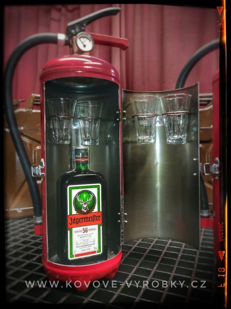 Fire extinguisher minibar Jagermeister