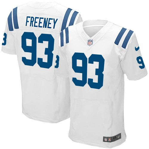 Nike Indianapolis Colts Jersey #93 Dwight Freeney White Jersey Men Elite NFL Jersey Sale