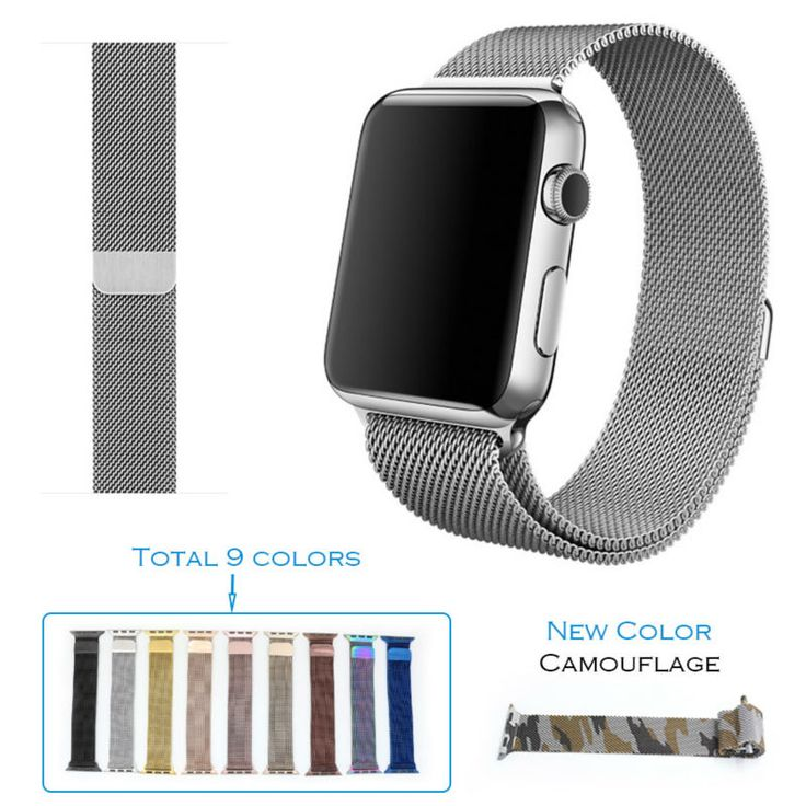 URVOI milanese loop for apple watch series 1 2 band/belt/strap stainless steel Standard/Sport magnetic strong clip high quality #>=#>=#>=#>=#> Click on the pin to check out discount price, color, size, shipping, etc. Save and like it!