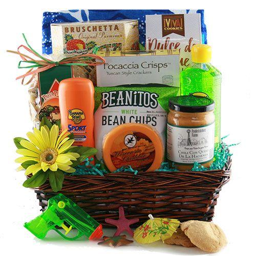 Best 25+ Beach gift baskets ideas on Pinterest   Beach basket gift ...