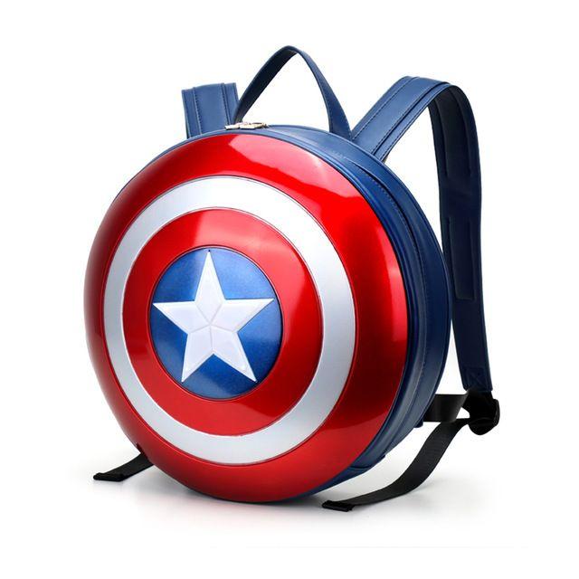 Известный Бренд Рюкзак Школы Марвел мстители Капитан Америка Модный Ноутбук Рюкзаки Высокое Качество Кожи 12 ''Компьютер