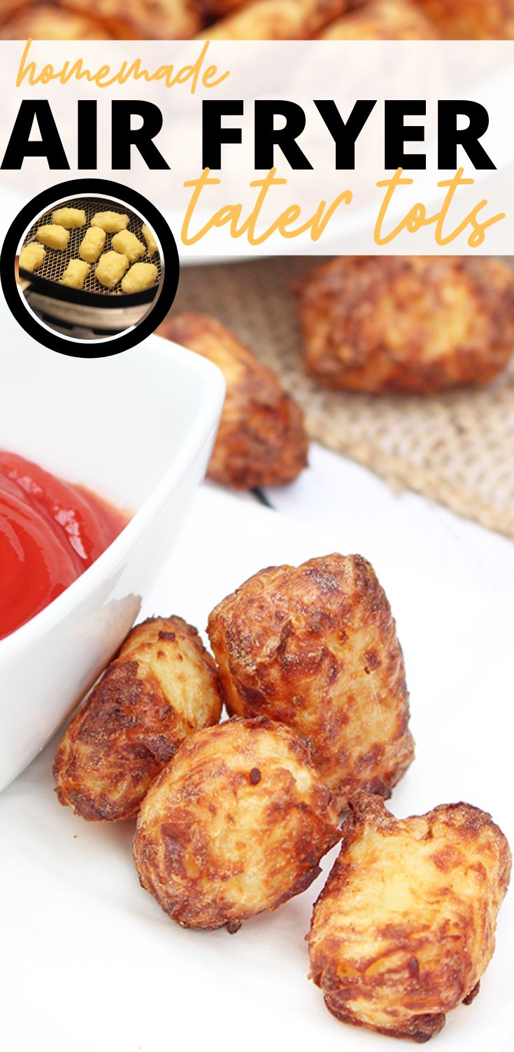 Delicious Homemade Air Fryer Tater Tots Cheesy recipes