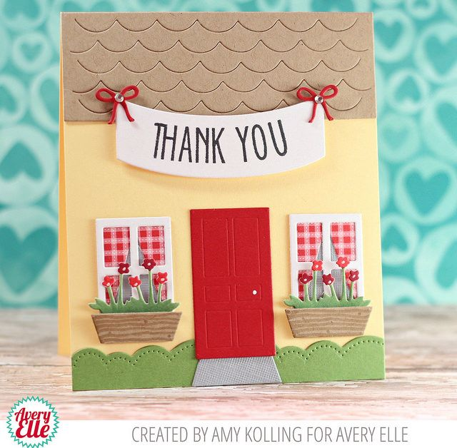 Amy Kolling for Avery Elle Supplies: Hanging Banner Clear Stamps Hanging Banner Elle-ments