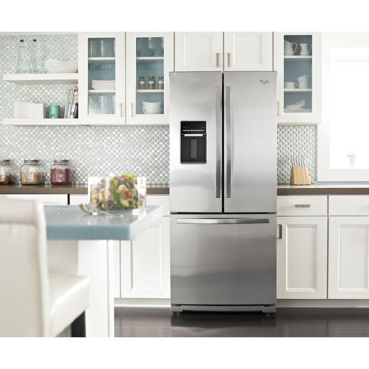 29.5 Width Whirlpool   WRF560SEYM   19.7 Cu. Ft. French Door Refrigerator W/  Apartment Refrigerator Sears